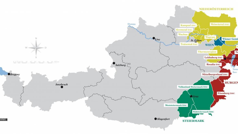 Österreichs neue Weinbaugebiete